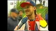 Historicky porad z roku 1999 o fans Brna a Baniku