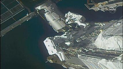 ISS: NASA astronauts perform spacewalk to begin solar array upgrade process