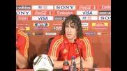Преди мача Испания - Хондурас