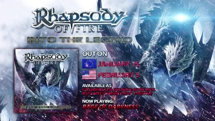 Rhapsody Of Fire - Into The Legend ( Official Song Snippets)