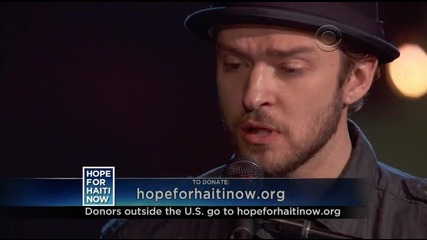 Justin Timberlake Feat. Charlie Sexton - Hallelujah (live Hope For Haiti) ( Високо Качество ) Hdtv