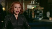 Scarlett Johansson And Black Widow In 'Avengers: Age of Ultron'