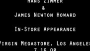 Hans Zimmer & James Newton Howard - The Dark Knight Soundtrack L.A. In-Store (Оfficial video)