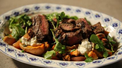 Салата с печена тиква, телешки стек или сьомга | Вкусна седмица | 24Kitchen Bulgaria