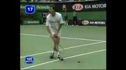 Тенисист Убива Прилеп По Време На Мач