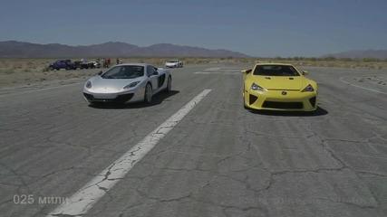 Двете най-бързи машини в състезание