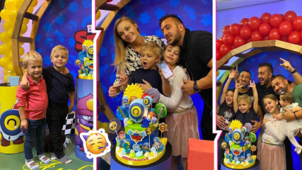 Няма нужда от ДНК тест: Звездите на поп-фолка събраха децата си за ЧРД на сина на Коцето