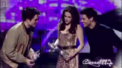 Robert Pattinson,kristen Stewart and Taylor Lautner People's Choice Awards 2011