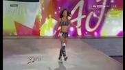 Aj Lee целува Punk а след това счупва маса с него и Daniel Bryan - Wwe Raw 7.2.12