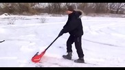 Супер лопата за почистване сняг