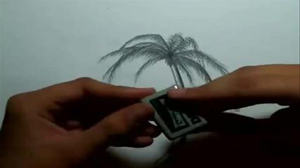 Как да нарисуваме палма
