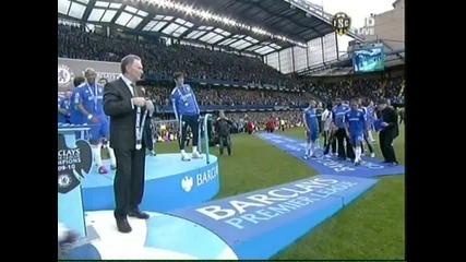 Награждаването на новите шампиони на Англия !