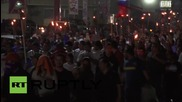 Honduras: Thousands of torch-wielding protesters rail against US interference
