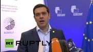 """Belgium: Tsipras slams EU for betraying """"foundational principles"""""""