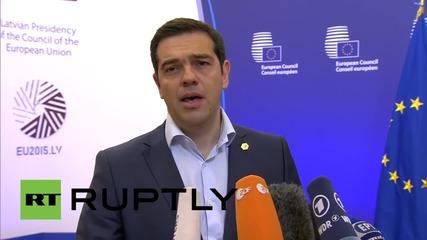 Belgium: Tsipras slams EU for betraying
