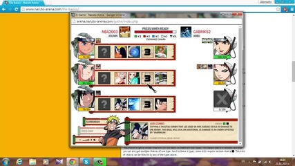 Видео урок - Naruto-arena tutorial. 1 - въведение в играта.