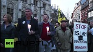 Belgium: PEGIDA supporters rally against Islam in Ghent