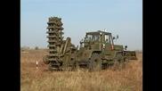 Военна машина за изравяне на окопи в земята Мдк.