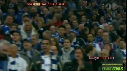 Европа лига. Schalke 04 - Twente (4-1) Акценти от срещата