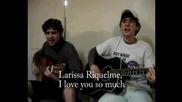 Бразилски тийнейджъри се обясниха в любов на Лариса Рикелме с песен