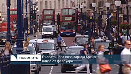 Първата нова виза заради Брекзит влиза от февруари