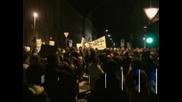 Седем полицаи са ранени, а 27 демонстранти са арестувани по време на протест в Словения