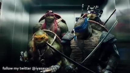Забавна част във филма Костенурките нинджа (2014)