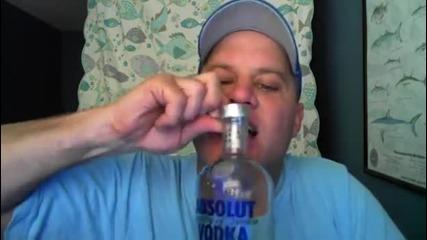 Бутилка водка за 15секунди