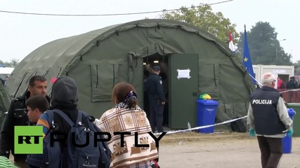 Croatia: Over 5,000 refugees arrive at temporary camp in Opatovac