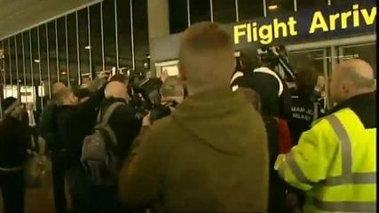 Как приветстваха Бекъм преди мача Манчестър Ю. - Милан