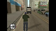 Gta San Andreas як бъг/ полицейската кола е заседнала в земята