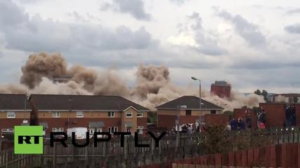 UK: Demolition FLOP! Glasgow tower blocks disagree with TNT in botched blowdown