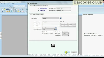 Generate barcode in different technology and types