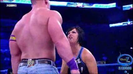 Джон Сина празнува, че Nexus ги няма, и обижда Вики Гереро
