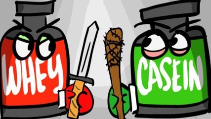 Muscle Damage - Суроватъчен протеин vs Казеин