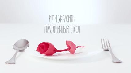 Как да си направите роза от салфетка