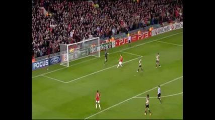 Манчестер Юнайтед 2-2 Бенфика - и Бербатов отбеляза..