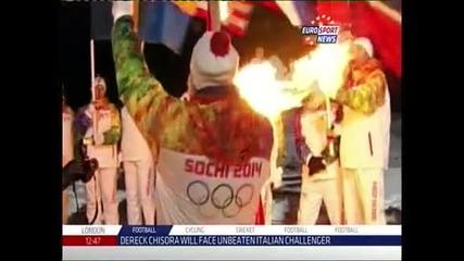Олимпийският огън достигна до Северния полюс