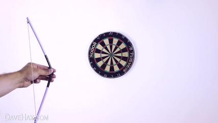 Как да си направите Лък и Стрела от закачалка