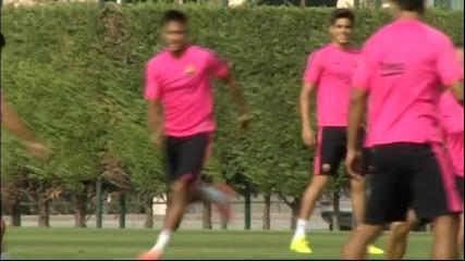 Барселона тренира в пълен състав