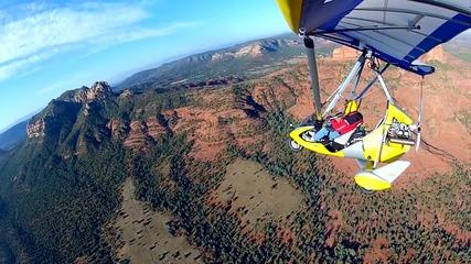 Полет с делтапланер над Седона, Аризона
