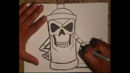 Scull Spraycan Character