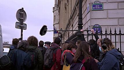 France: COP21 activists hearings begin in Paris over 2019 Macron portrait removals