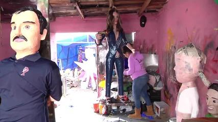 Mexico: Kate del Castillo and 'El Chapo' pinatas prove a hit