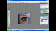 Как С Photoshop Се Сменя Цвета На Очите /Урок/