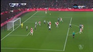 Арсенал - Нюкасъл 1:0, Висша лига, 20-и кръг