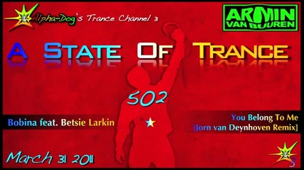 [asot 502] Bobina feat. Betsie Larkin - You Belong To Me [jo