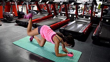 Фитнес упражнения - Задна екстензия от лег със свит крак
