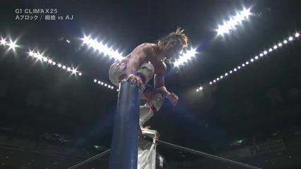 Aj Styles с/у Hiroshi Tanahashi Njpw G1 Climax 2015