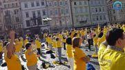 Медитация на Фалун Дафа в Прага, Чехия, септември 2018 г.